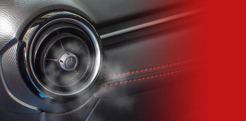 kratka klimatyzacji wewnątrz samochodu